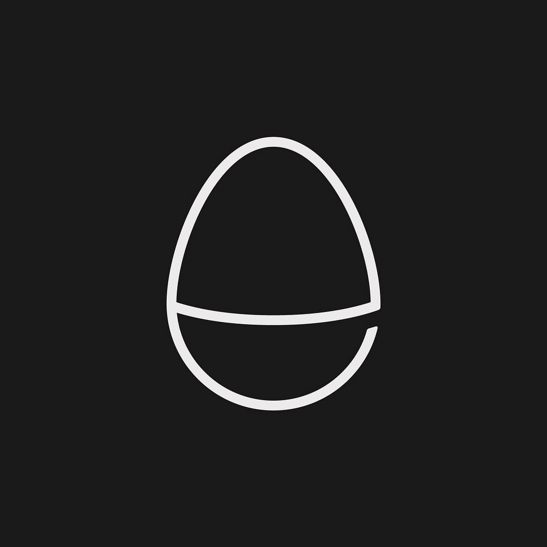 Creative typographic alphabet logos - E for Egg