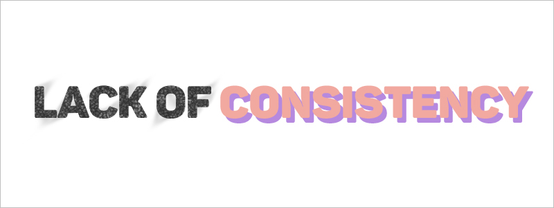 Graphic Design Mistakes - Lack of consistency