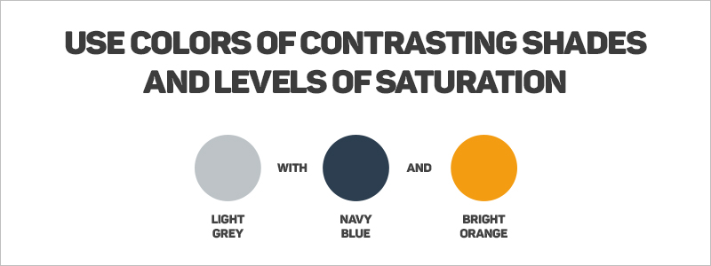Graphic Design Rules - Use colors of contrasting shades