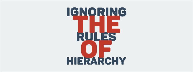 Graphic Design Mistakes- Ignoring visual hierarchy