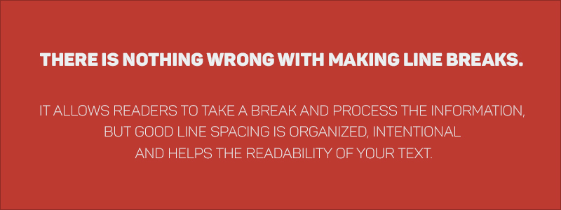 Graphic Design Rules - Use proper leading and line breaks