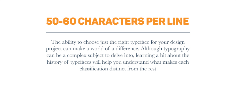 Graphic Design Rules - 50-60 characters per line