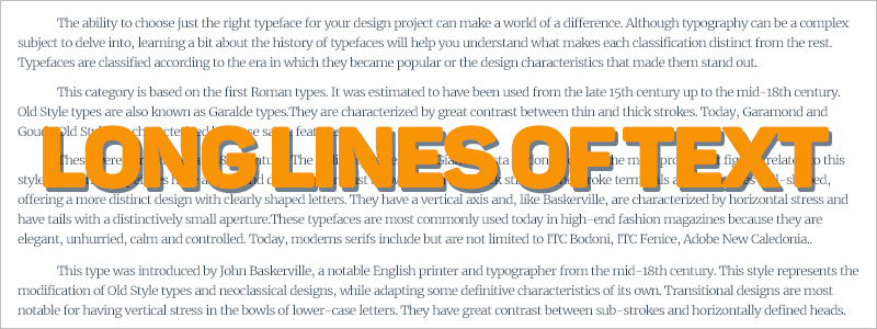 Graphic Design Mistakes - Long lines of text