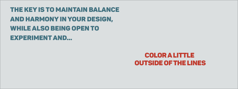 Graphic Design Rules - Balance, harmony, and experimentation