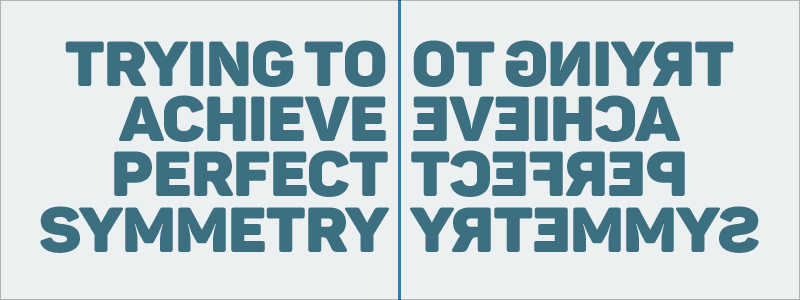 Graphic Design Mistakes - Trying to achieve perfect symmetry