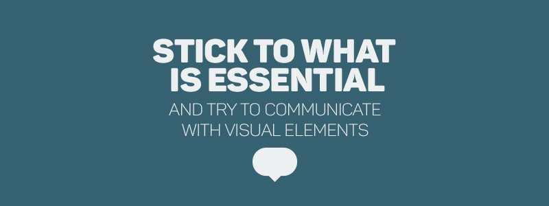 Graphic Design Rules - Stick to what is essential