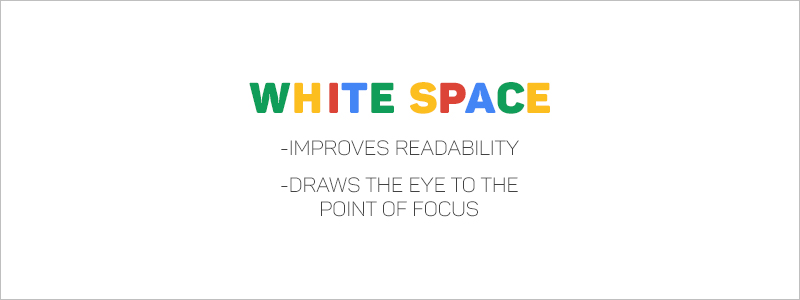 Graphic Design Rules - White space improves readability