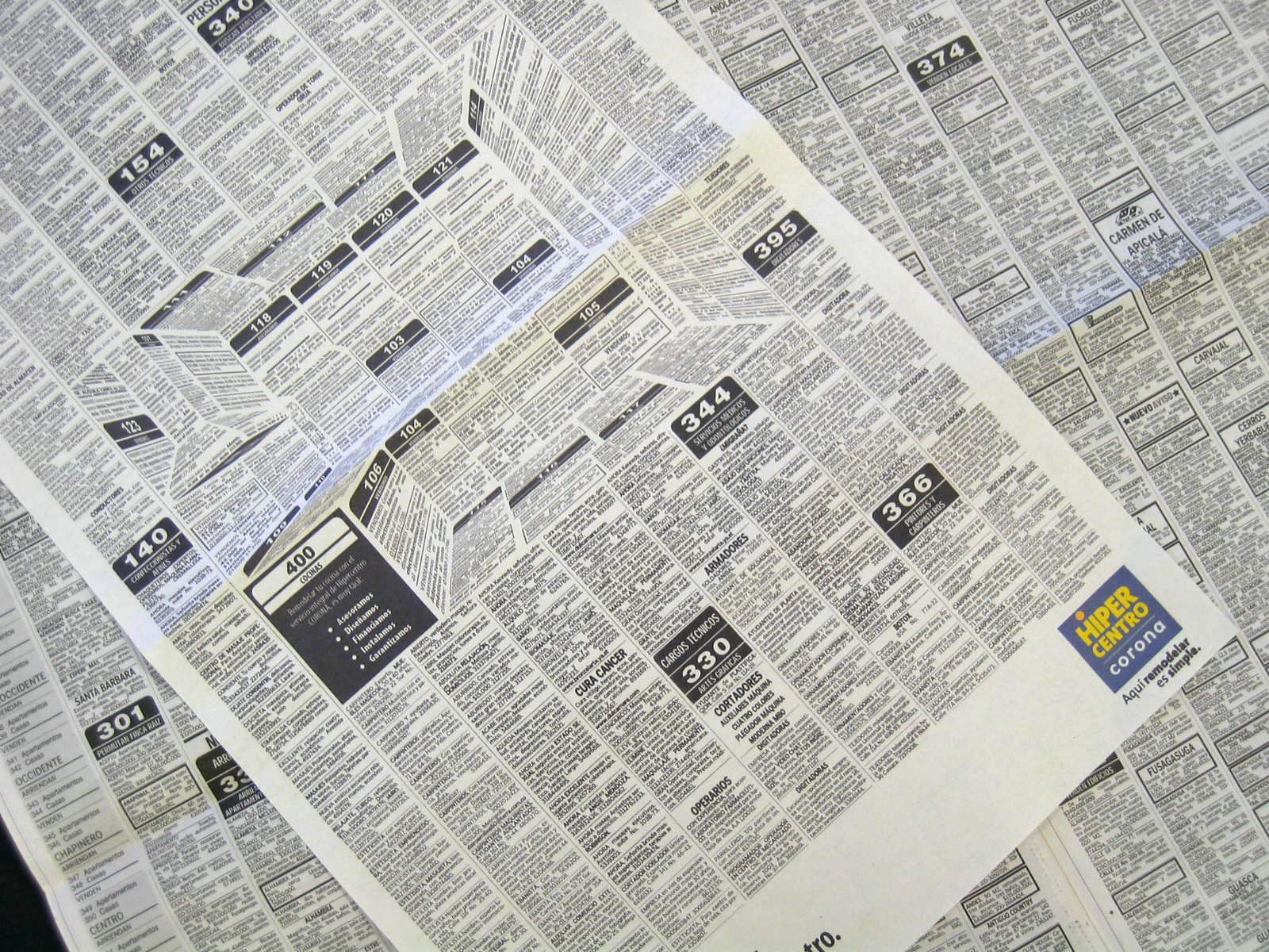 This Brilliant Newspaper Ad Hides A 3D Kitchen In The Classifieds - 3