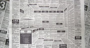 This Brilliant Newspaper Ad Hides A 3D Kitchen In The Classifieds