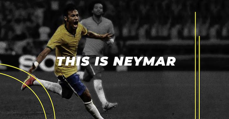 Neymar falling, diving font - 1
