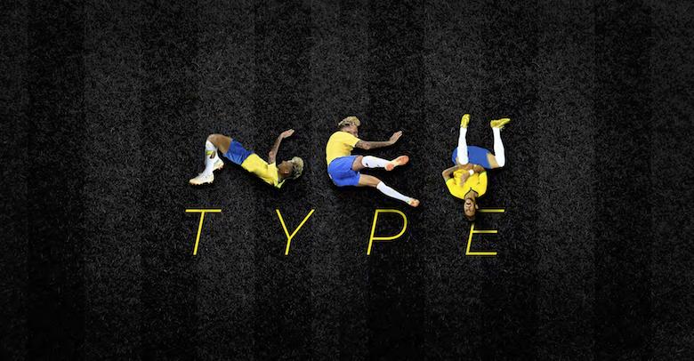 Neymar falling, diving font - 10