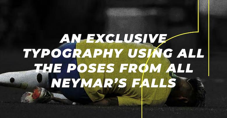 Neymar falling, diving font - 11