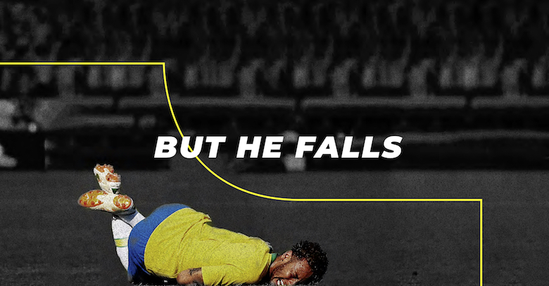 Designer Turns Neymar's Dramatic Falls Into A Free Font