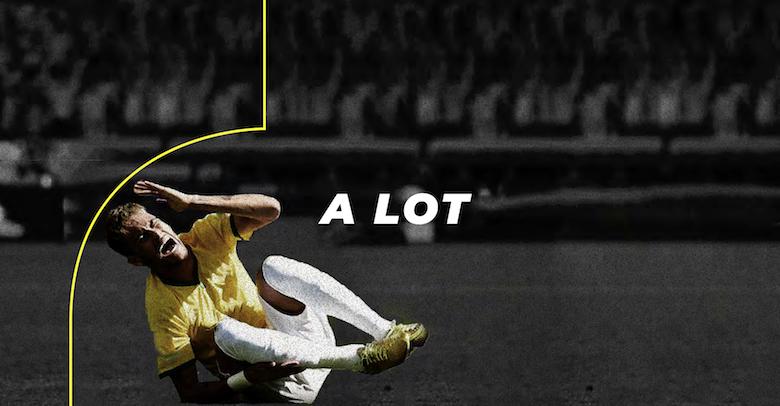 Neymar falling, diving font - 4