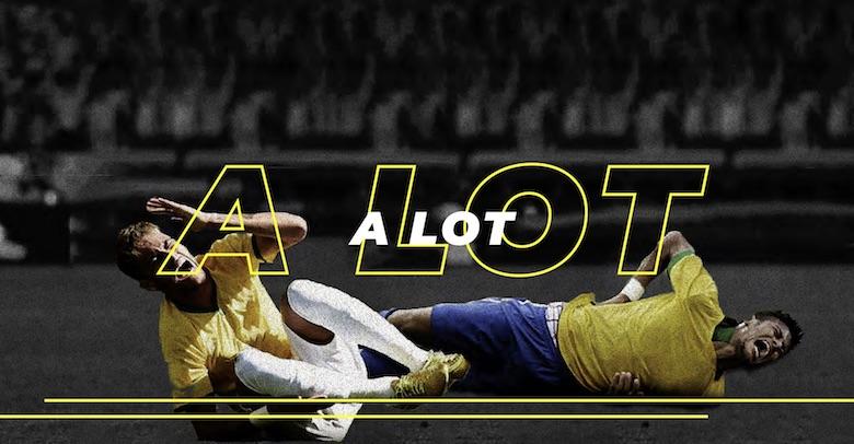 Neymar falling, diving font - 5