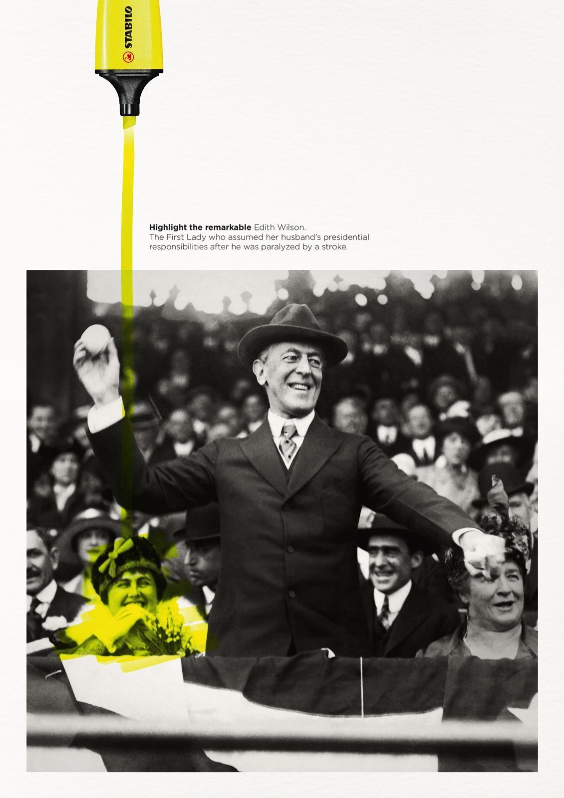 Highlight the remarkable - Edith Wilson