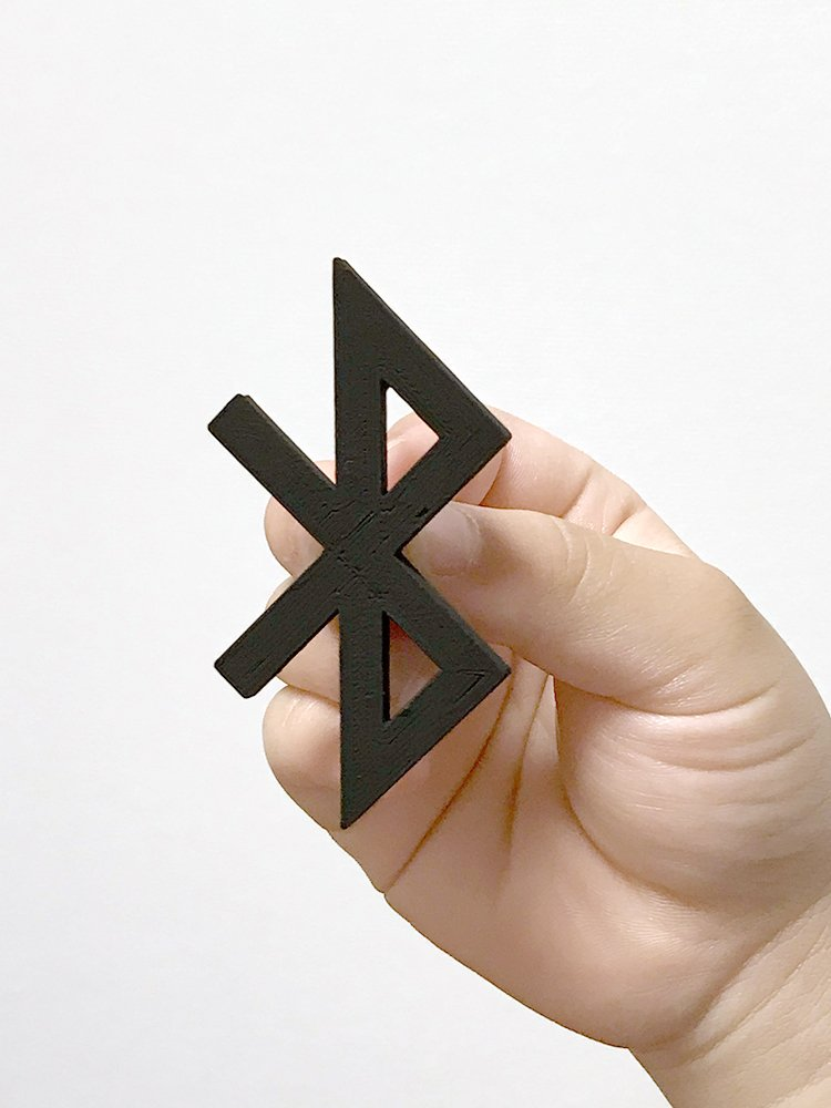 Famous logos 3D printed as everyday items - Bluetooth (1)