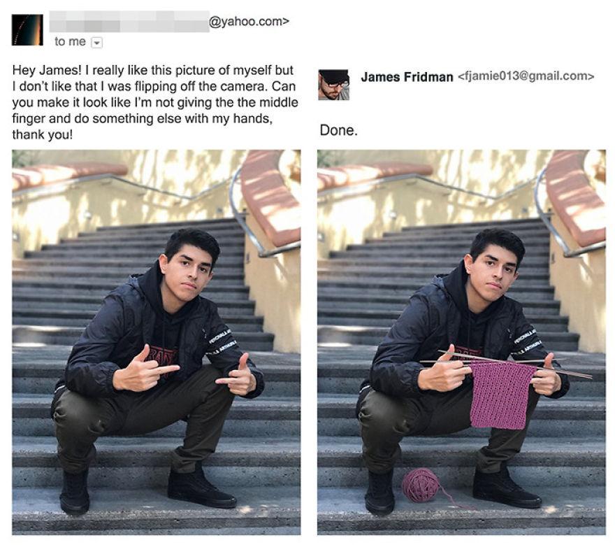 James Fridman trolls funny Photoshop requests - 2