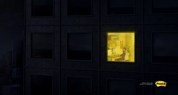Clever Ads From Post-it Highlight Creatives Who Spend Sleepless Nights Coming Up With Bright Ideas