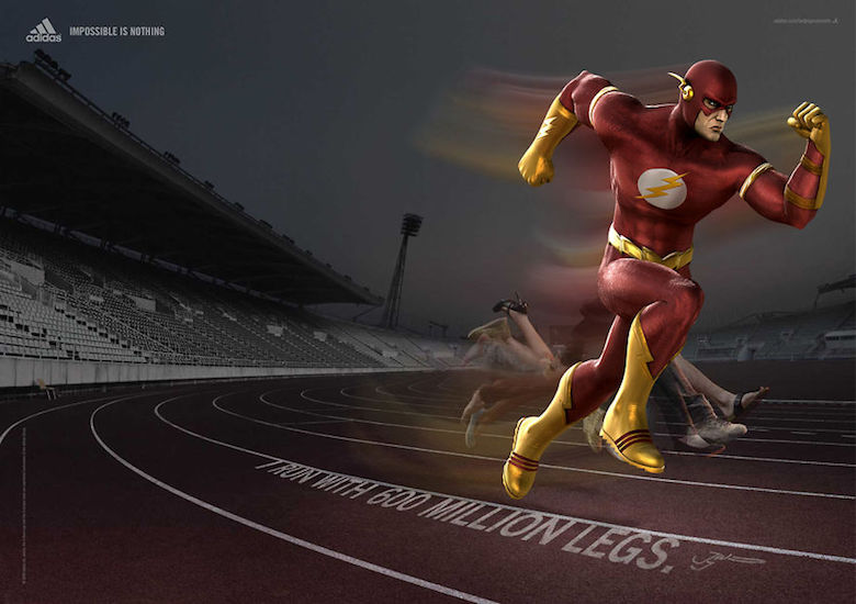 If The Flash endorsed Adidas