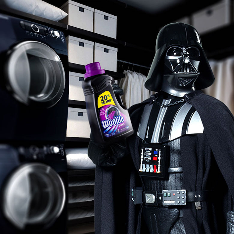 If Darth Vader endorsed Woolite