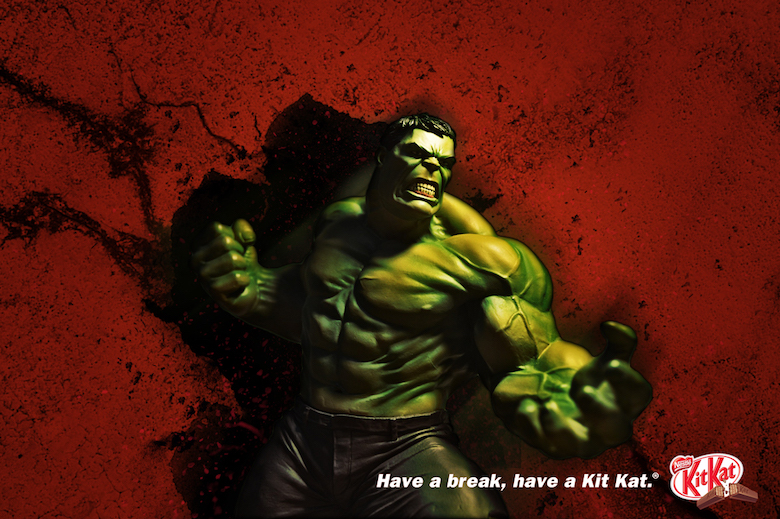 If The Hulk endorsed Kit Kat