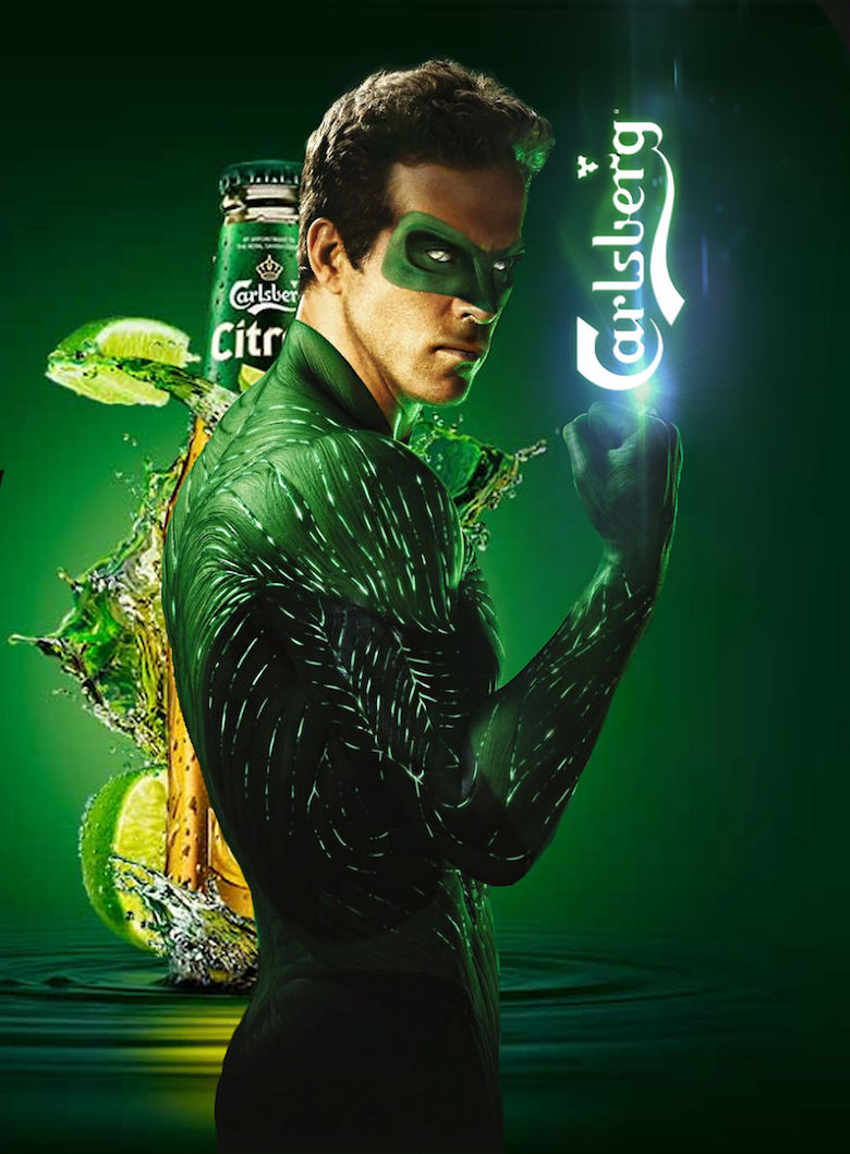 If The Green Lantern endorsed Carlsberg