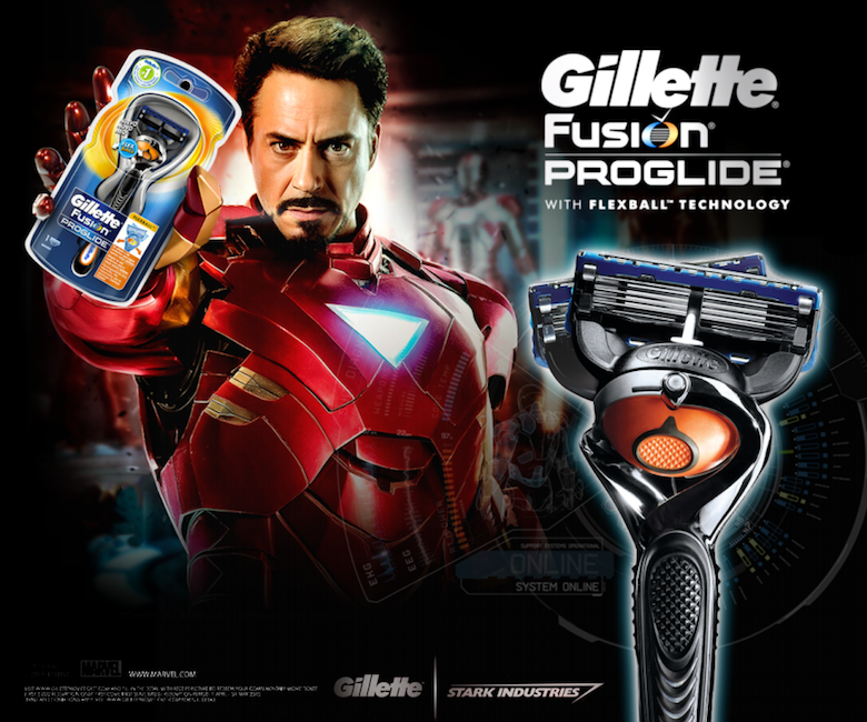 If Iron Man endorsed Gillette Fusion