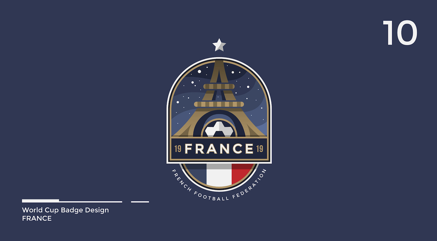 World Cup Badge Design - France