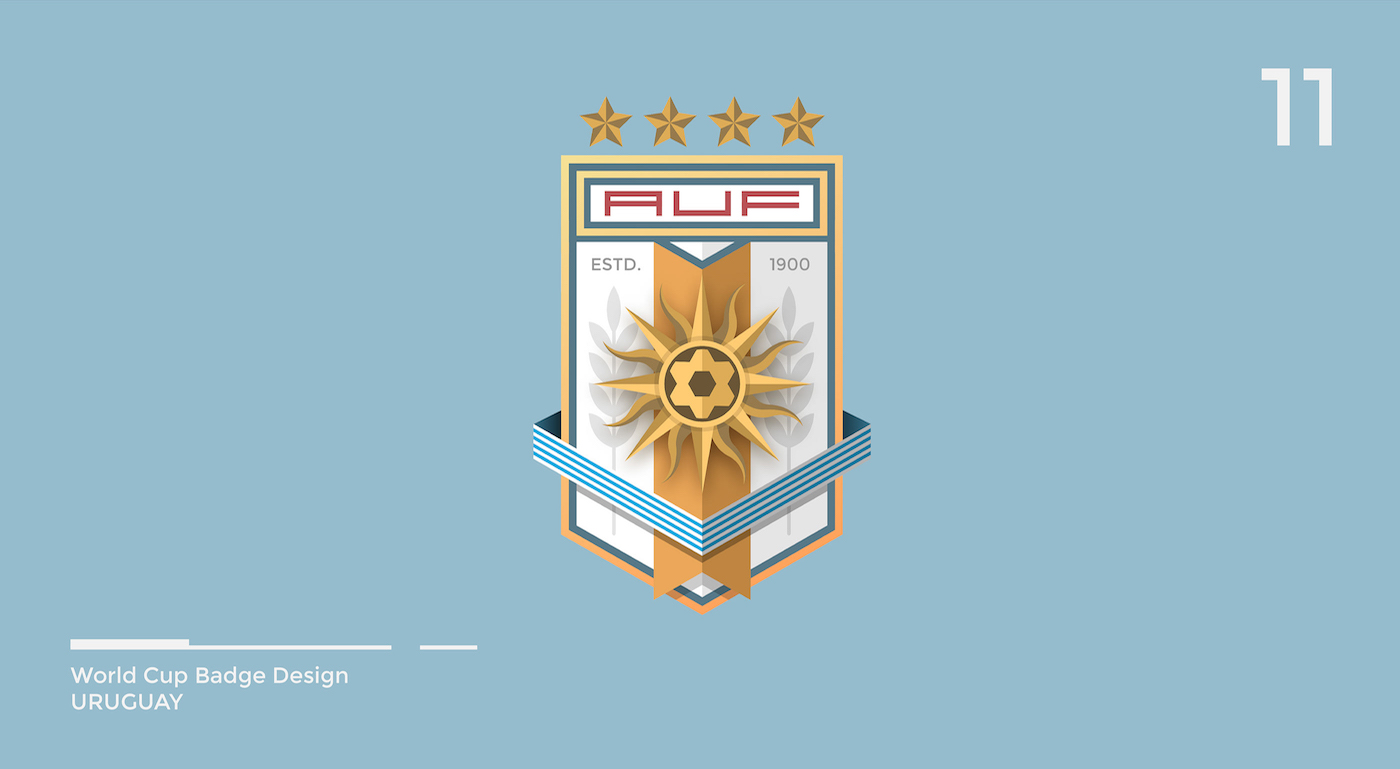 World Cup Badge Design - Uruguay