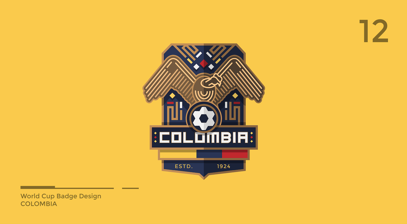 World Cup Badge Design - Colombia