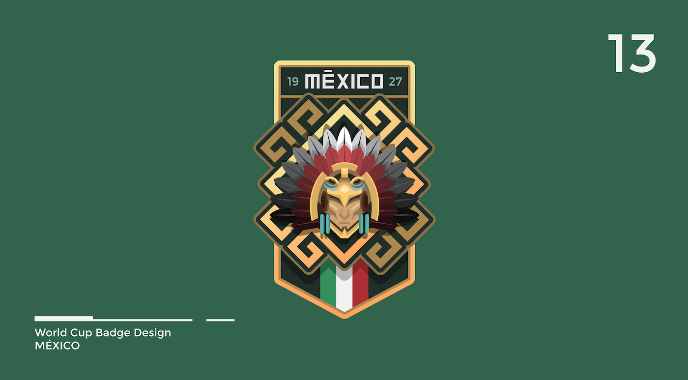World Cup Badge Design - Mexico