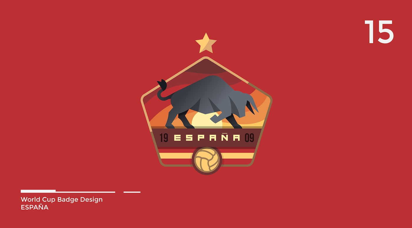 World Cup Badge Design - Spain