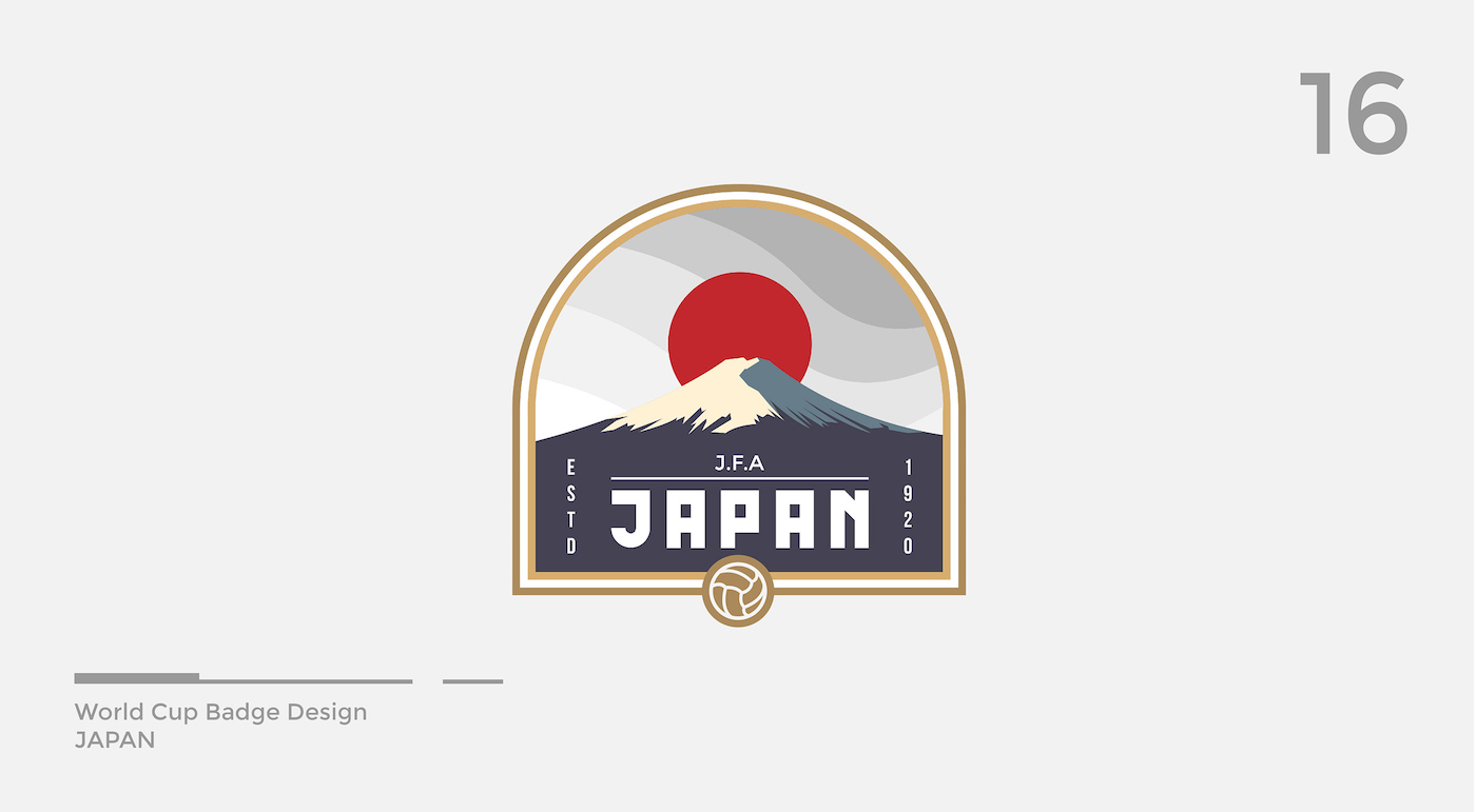 World Cup Badge Design - Japan