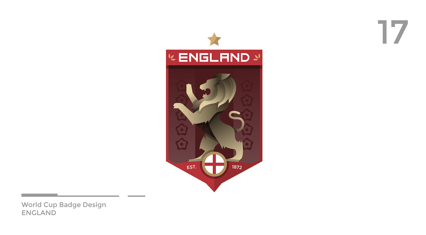 World Cup Badge Design - England