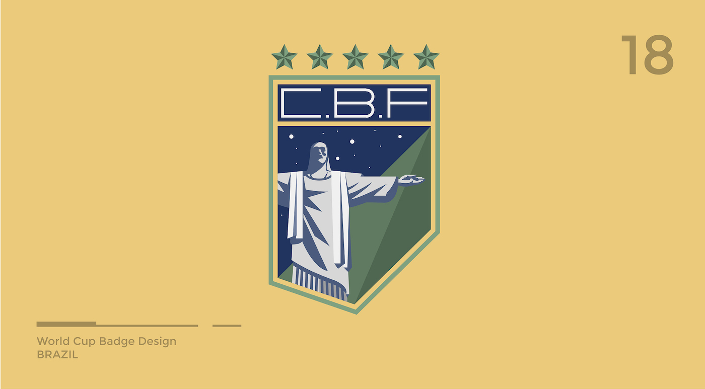 World Cup Badge Design - Brazil