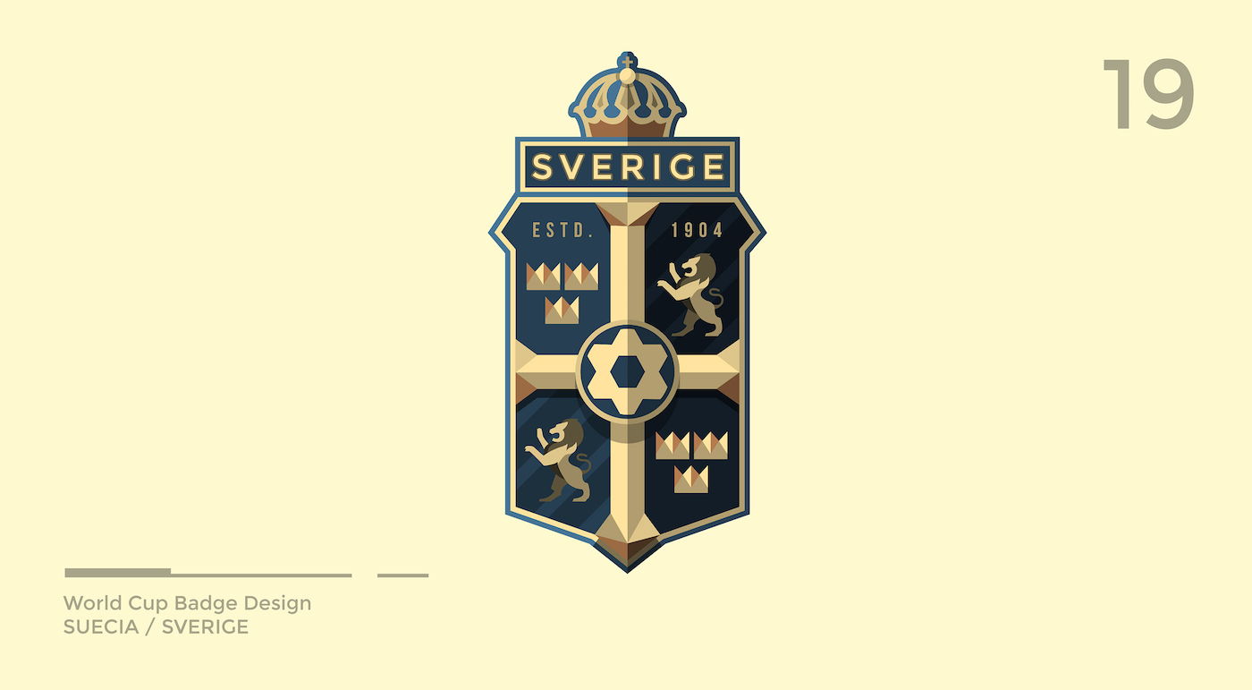 World Cup Badge Design - Sweden