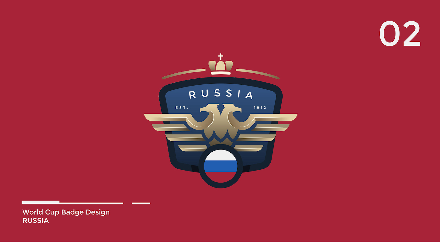 World Cup Badge Design - Russia