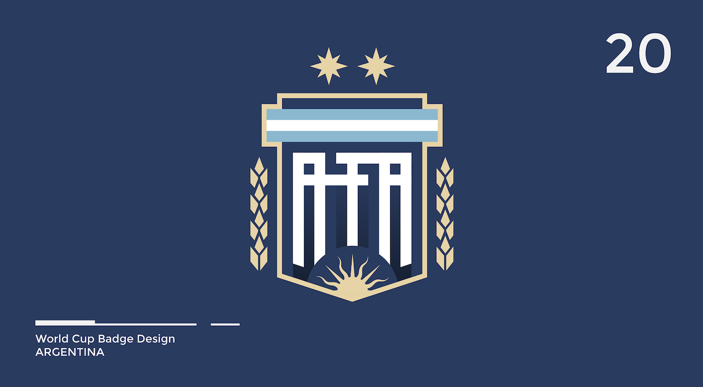 World Cup Badge Design - Argentina