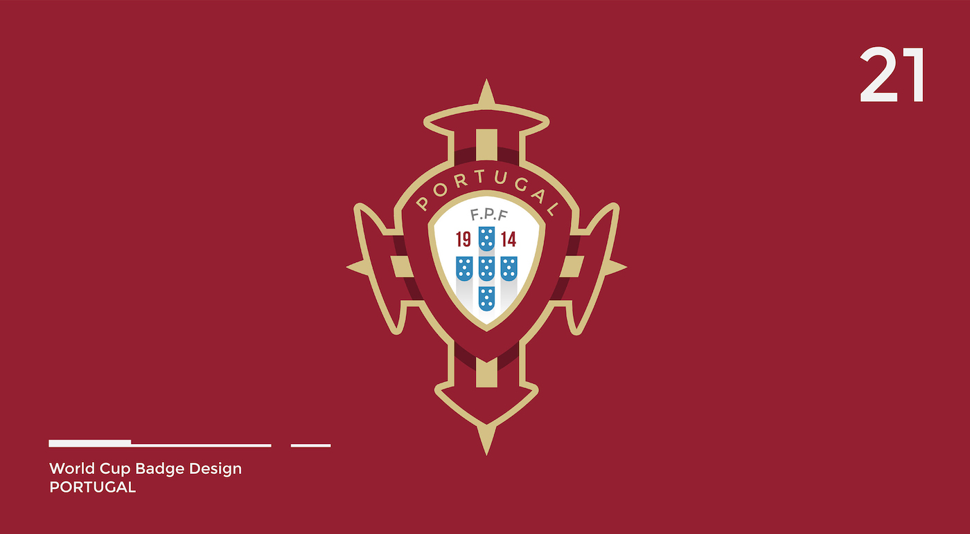 World Cup Badge Design - Portugal