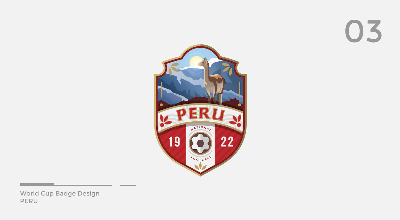 World Cup Badge Design - Peru