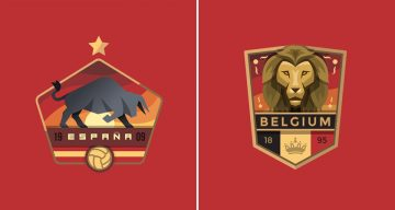 Designer Creates Beautiful Team Badges During The World Cup