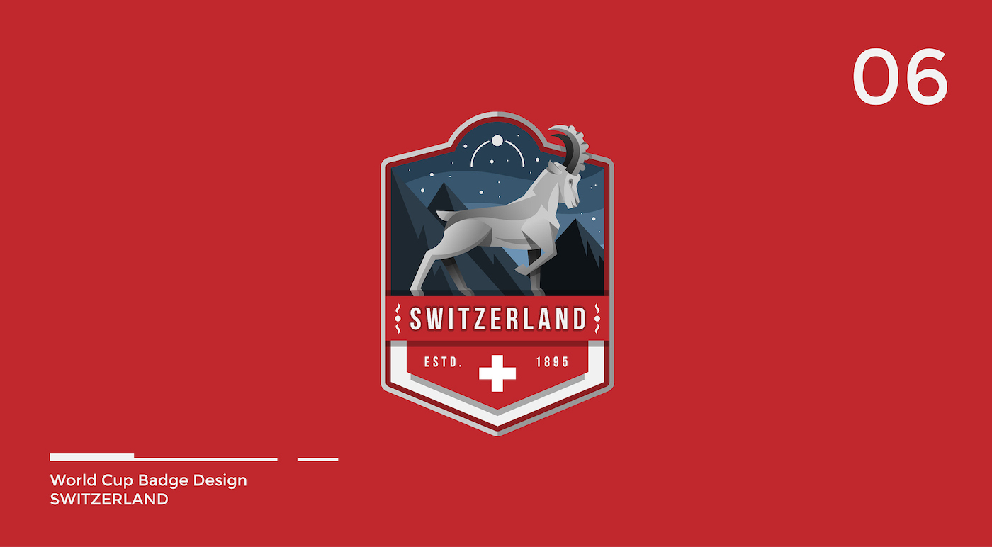 World Cup Badge Design - Switzerland