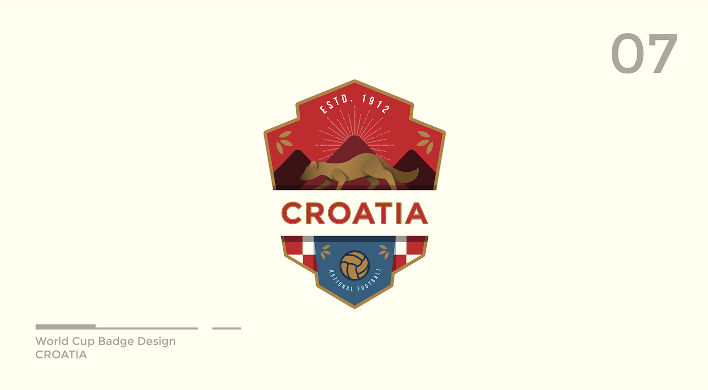 World Cup Badge Design - Croatia