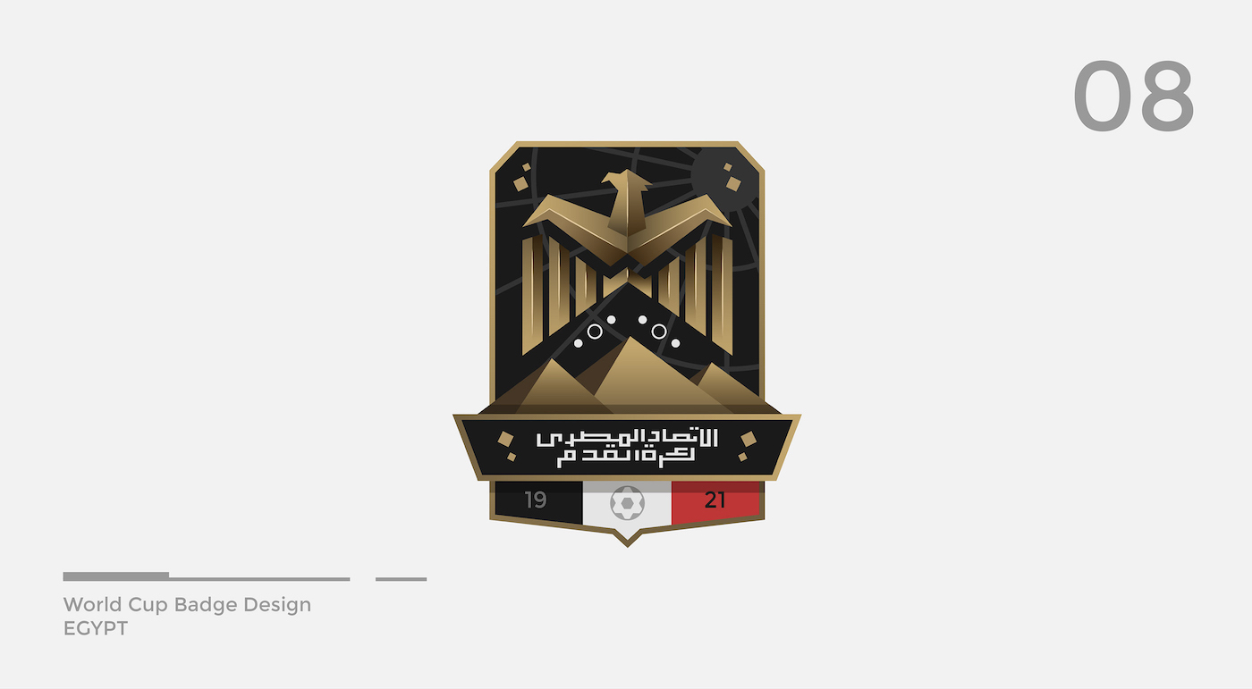 World Cup Badge Design - Egypt