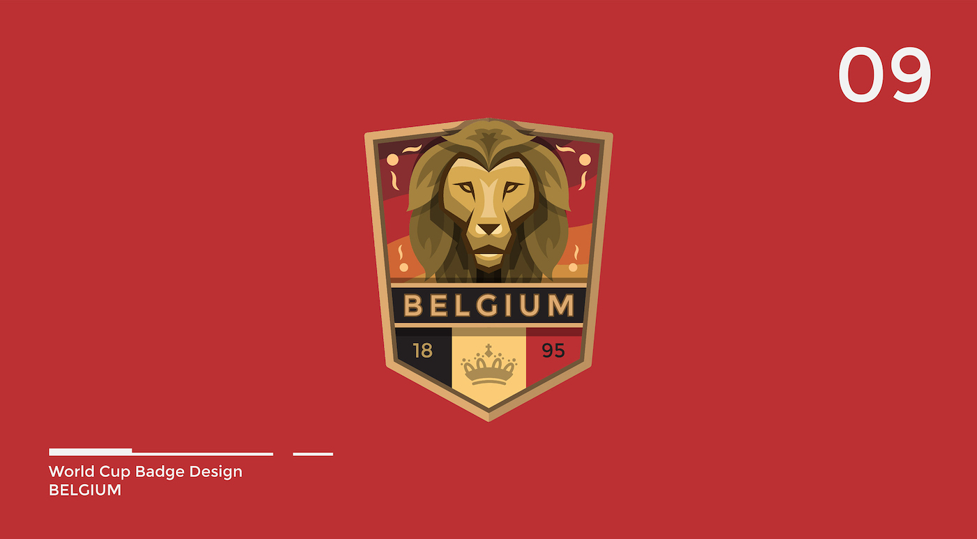 World Cup Badge Design - Belgium