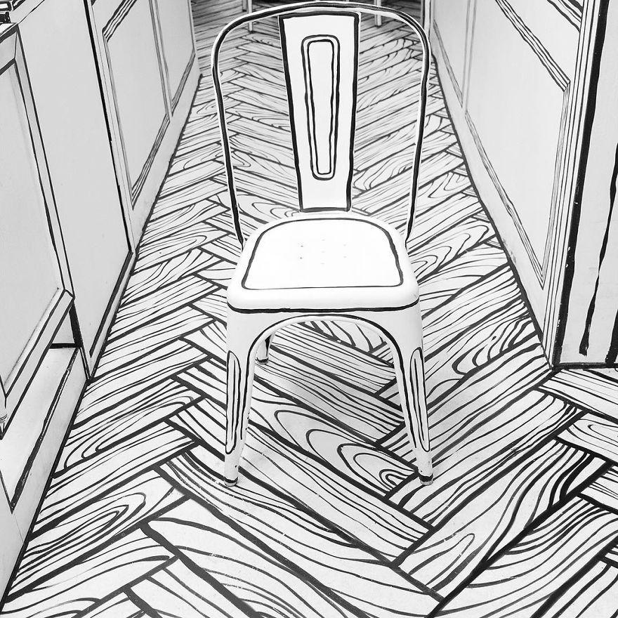 Cartoon, Comic Interior Design Cafe in Seoul, South Korea - 16