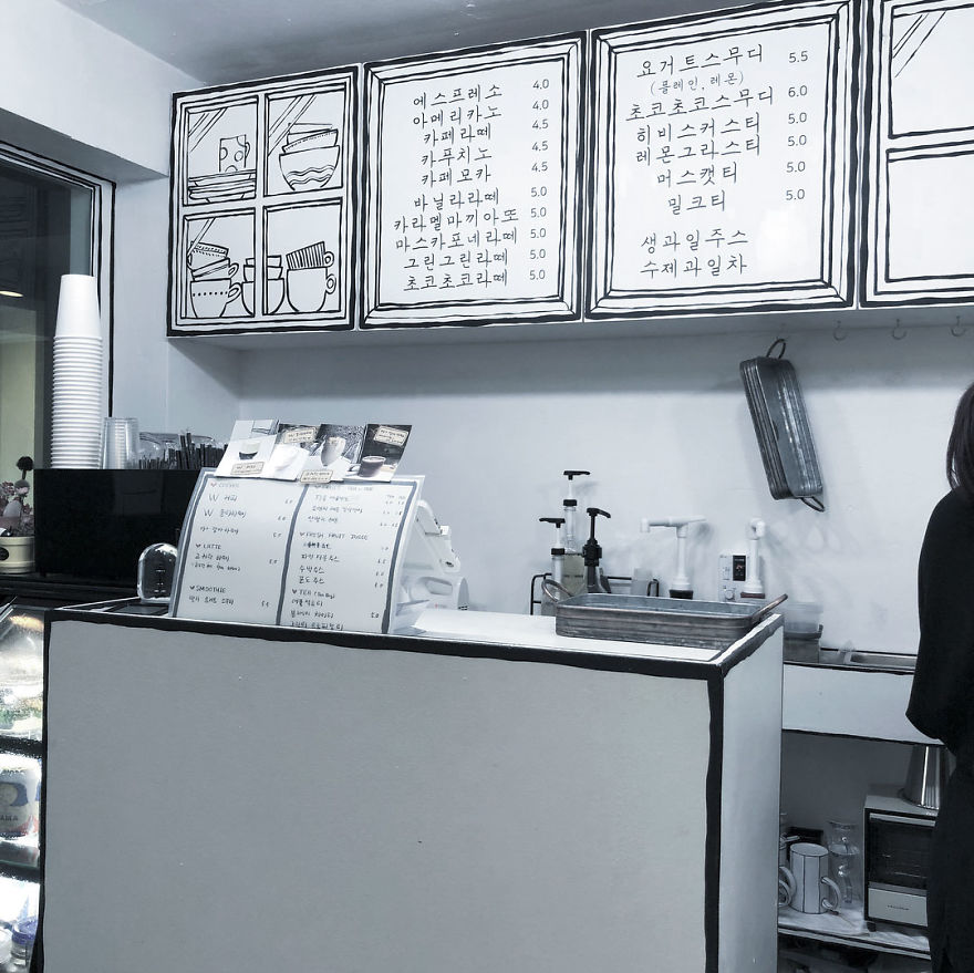 Cartoon, Comic Interior Design Cafe in Seoul, South Korea - 18