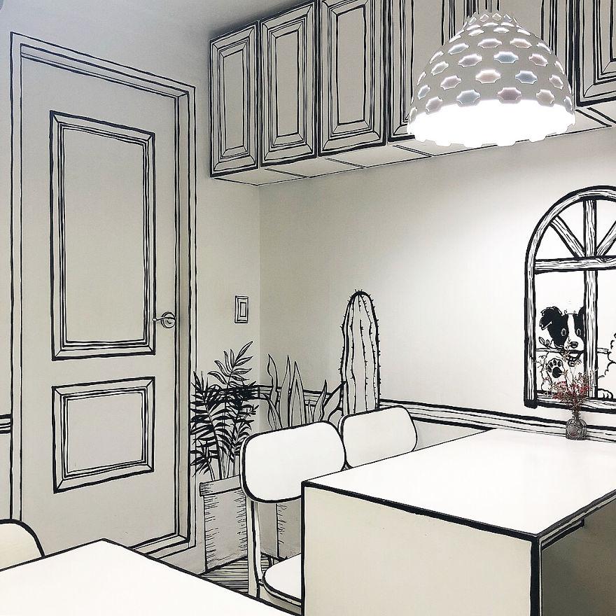 Cartoon, Comic Interior Design Cafe in Seoul, South Korea - 6