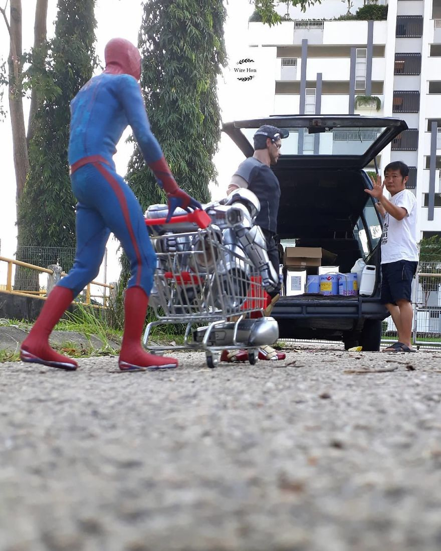 Forced perspective photography with toy superheroes - 23